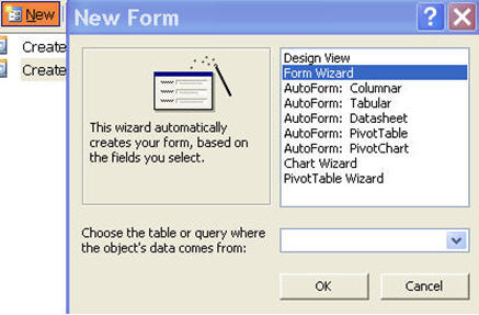 Creating Microsoft Access Forms