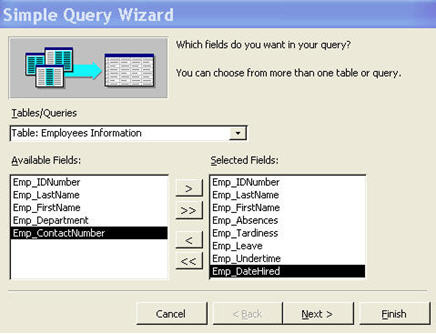 Creating Multiple Table Queries