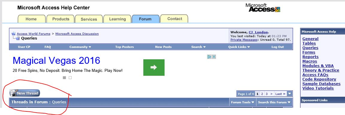 Make a field on a report Visible when a field on a form is