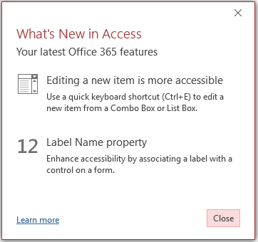 New features in Access 2016 version 1710 - Access World Forums