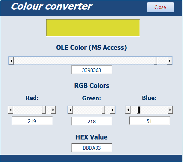 Color Coding in VBA - Access World Forums