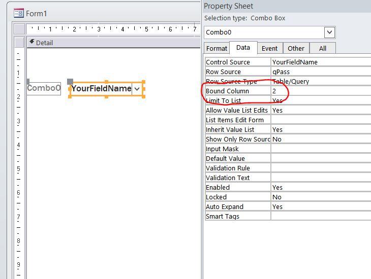 Combo box bound column not working - Access World Forums