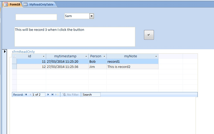 Add/Edit new record only continuous form - Access World Forums