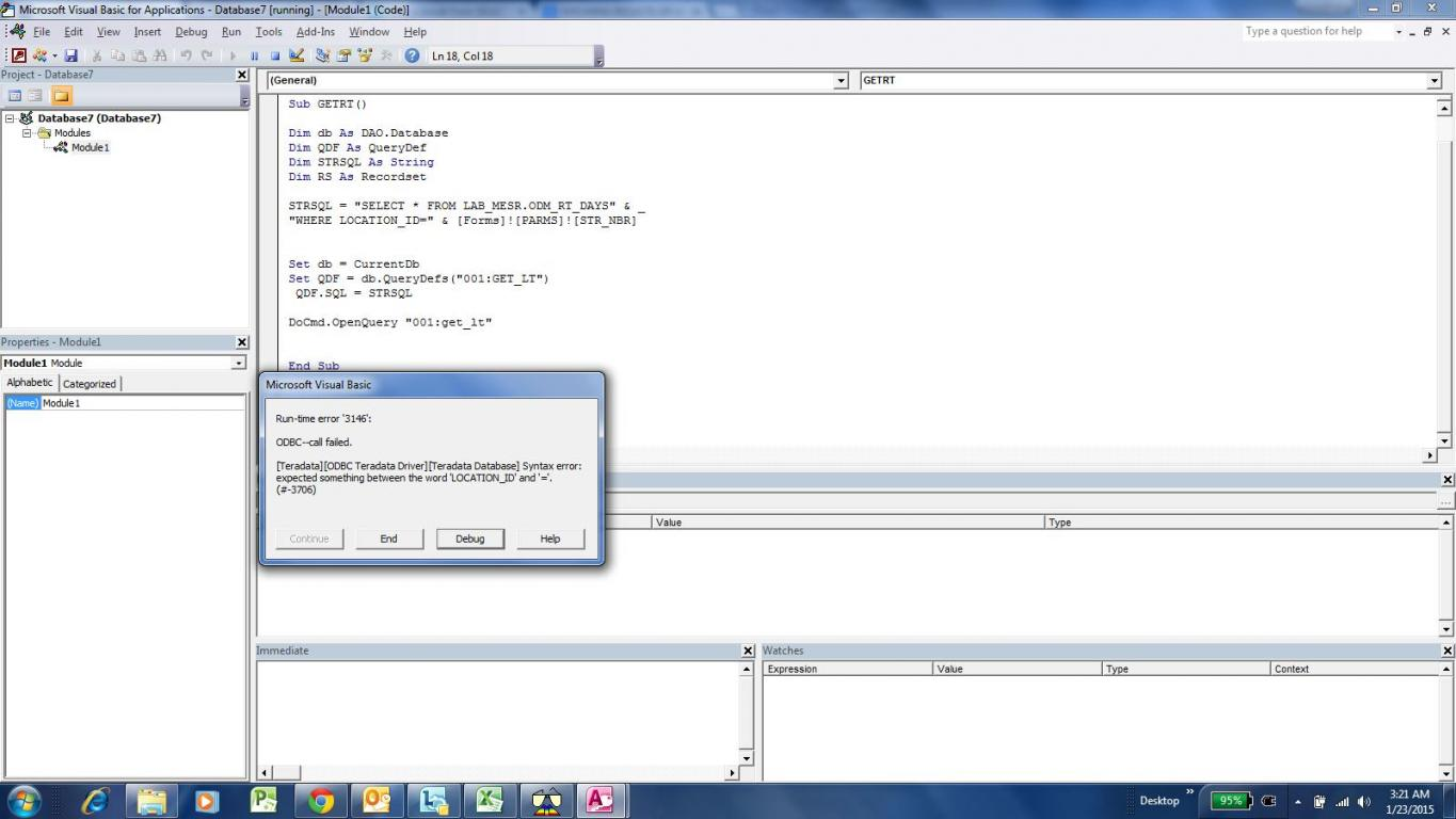 pass through query with parameters - Access World Forums