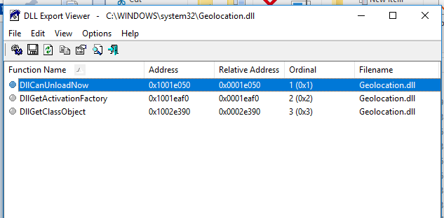 Windows Geolocation Service reference - Access World Forums