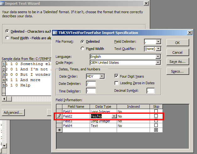 Yes/No Datatype export to csv file - Access World Forums