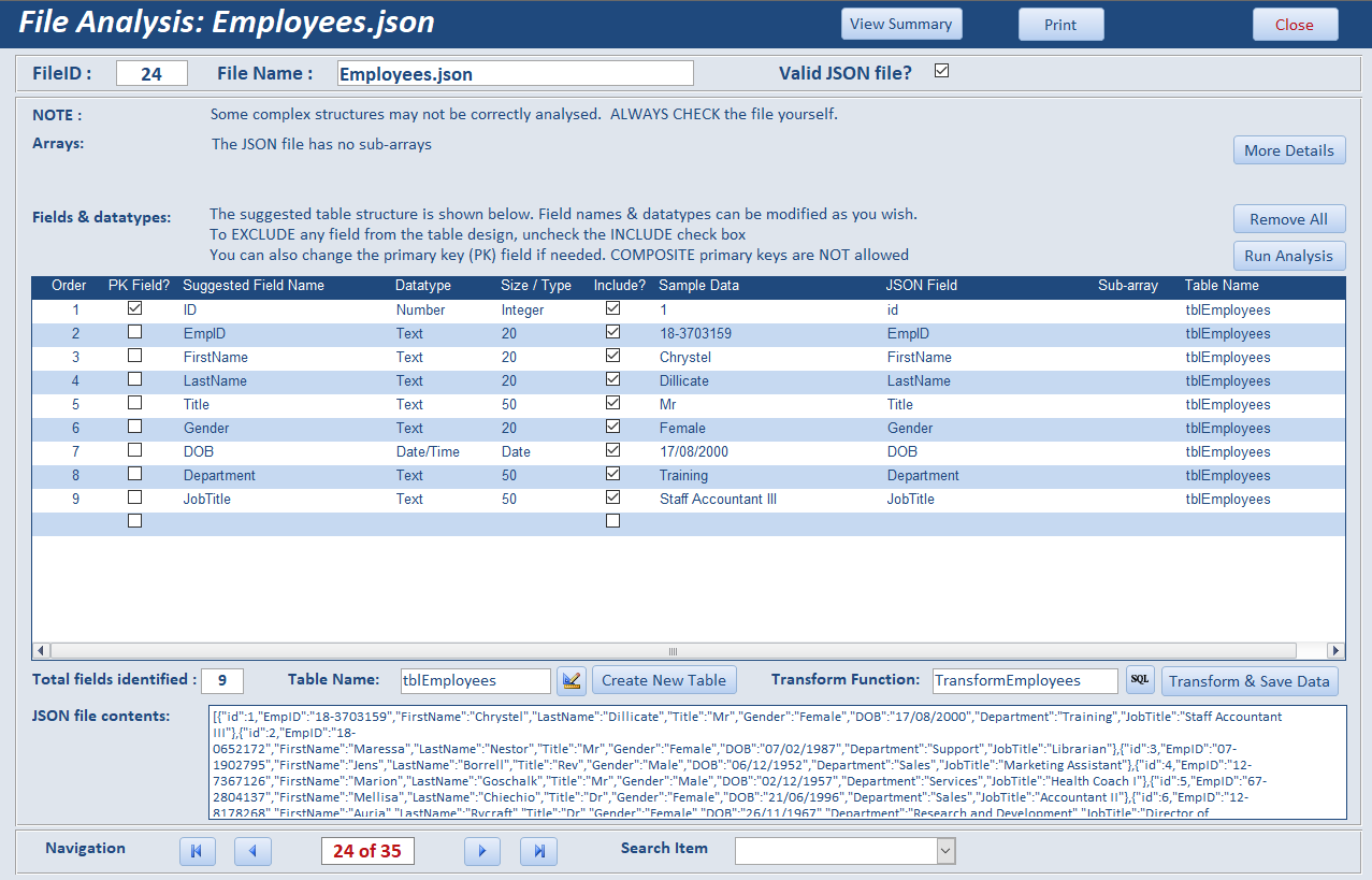 A JSON parser database - Access World Forums