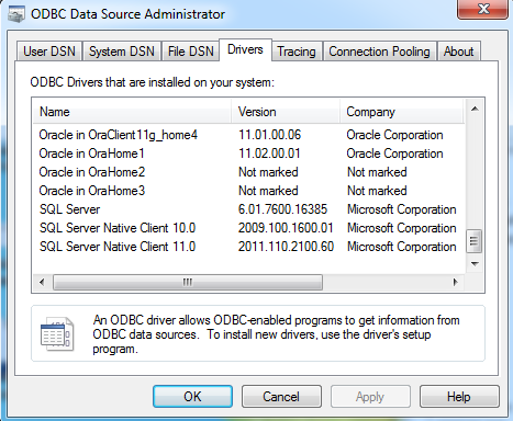 Install Sql Native Driver/ Download preactivated version