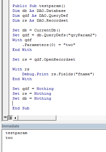 Chaining parameter queries - Access World Forums