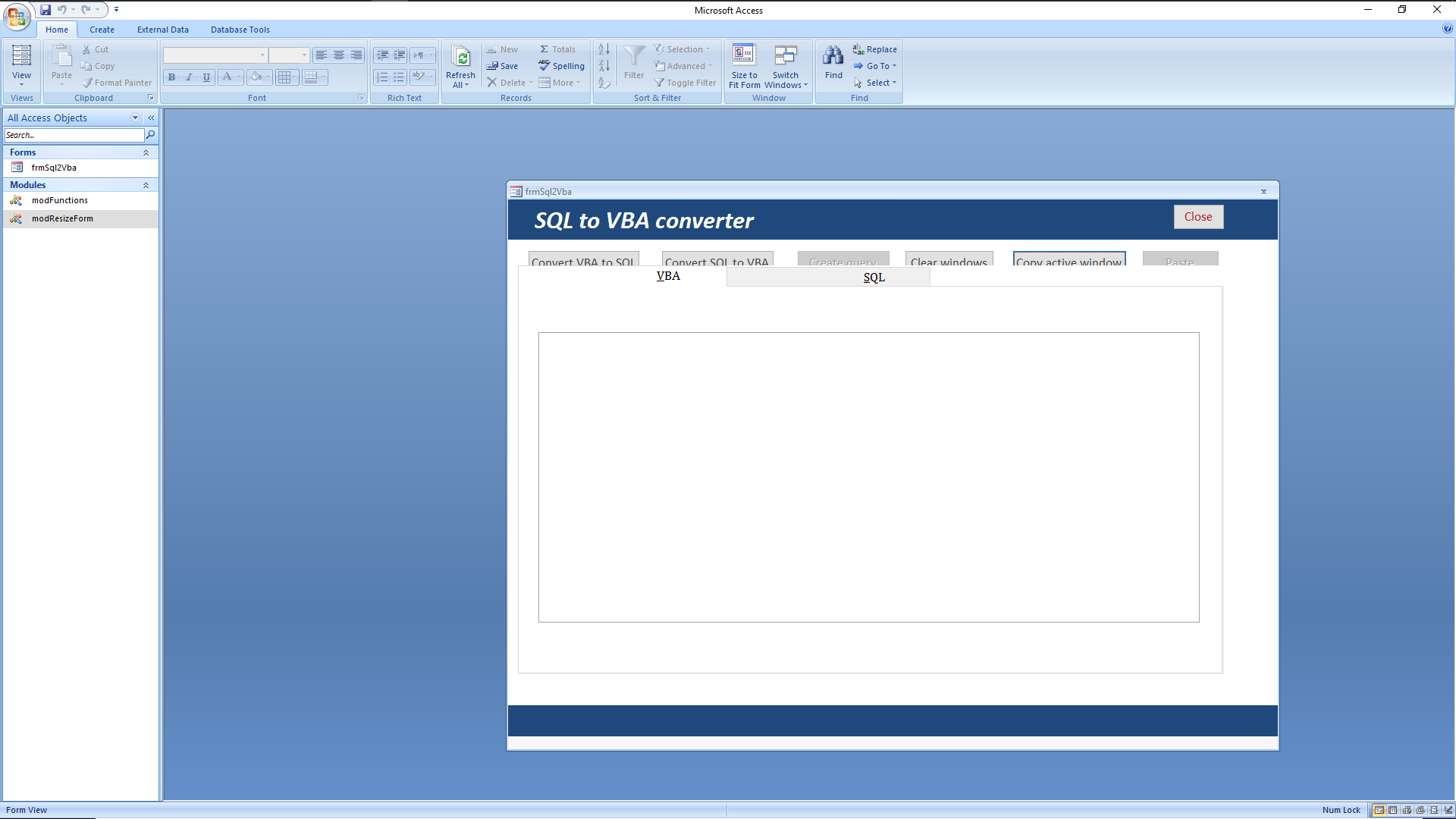 SQL to VBA and back again - Access World Forums