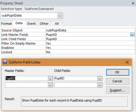 How To Emulate Split Form - Access Reference Subform Field
