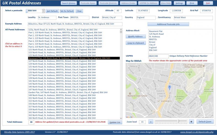 UK Postal Addresses Database - Access World Forums