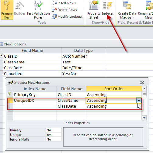 Setting Primary Key on a Calculated Field - Access World Forums
